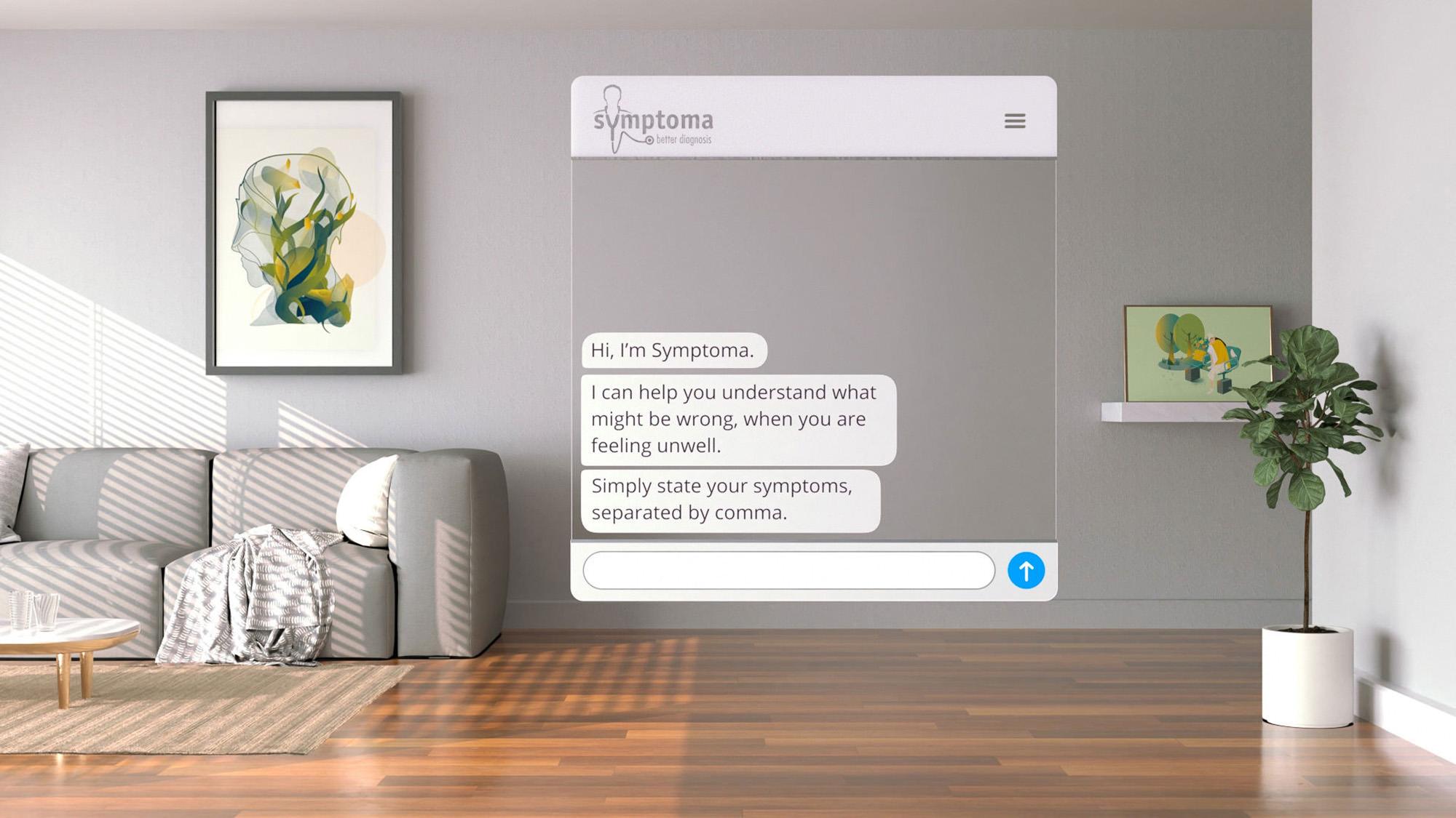Symptoma-UI-Design-Personal-Healthcare-AI-Konvergenz-Studio
