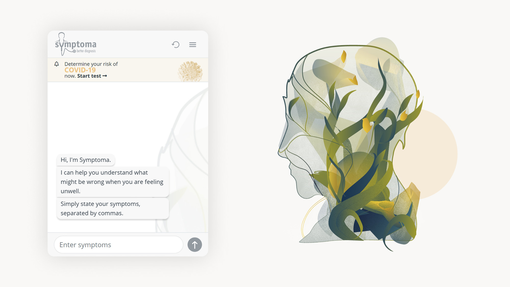 Symptoma-UI-UX-Design-AI-Chatbot